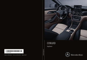 2017 Mercedes Benz SLC COMAND Operator Instruction Manual